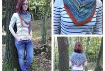 My handspun knitting and crocheting / Made by me from my handspun yarns