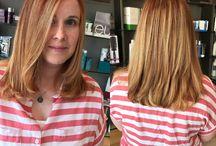 Blond hair highlights