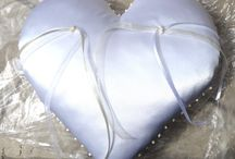 Mine - heart shaped pillow for wedding rings