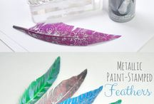 Light as a feather / How to decorate/use feathers craftwise