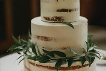 W E D D I N G: cake