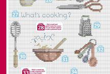 Cucina schemi punto croce