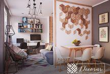 Decoração / As melhores decorações de apartamentos de todos os tamanhos.