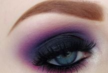 Gothic glam party make up