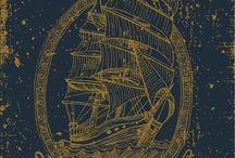 Nautical drawings and art
