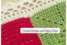 crochet borders - blankets