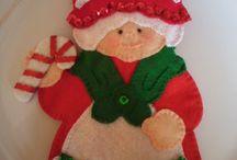 presentacion  de cubiertos de navidad.