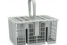 Dishwasher Cutlery Basket  Grey Hotpoint Indesit GENUINE replacement basket!