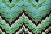 Needlepoint - Bargello / Examples of Bargello in needlepoint and quilting.