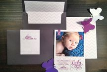 Dandelion Willows - Birth Announcements / Birth Announcements in Chevron by Dandelion Willows Invitations + Stationery