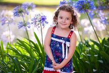Girls Red White and Blue Patriotic Dress / Find our Patriotic dress at: http://www.treasureboxkids.com/