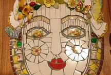 Mosaic faces / by Mary Wennerstrum