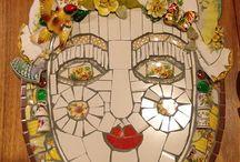 мозаика с тарелок
