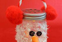 Knutselen / Sneeuwhoop waxinelichtjes