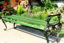 Klupe za parkove - Park benches - Street furniture / Livene klupe za parkove i bašte. Park benches and street furniture.
