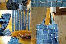 bolsas de calça jeans