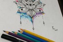tatuagem de aquarela