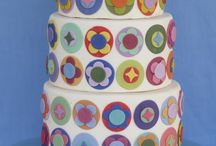 Simple colorful shapes cakes