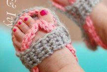 вязаные сандали