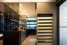 Wall wine cellar