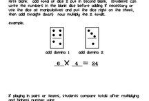 Domino and dice math / by Anne Carline
