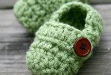 Trabalhos em croche e tricot - bébé