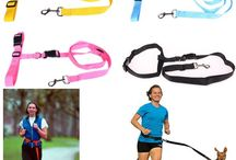 Hands free dog leash / This running drawstring makes it easy for you to exercise with your pet.