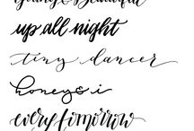 Fonts & Typography / Fonts and Typography - I love them all!