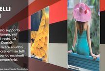 Pannelli rigidi / Siamo in grado di stampare i seguenti materiali:  Pannelli in Forex;  Pannelli in Plexiglas opalino e trasparente;  Pannelli Dibond;  Pannelli in Polionda;  Pannelli in Cartone eco-friendly;  Pannelli leggeri (sandwich). La stampa su pannelli rigidi tramite la stampa UV garantisce asciugatura immediata e brillantezza di colori.