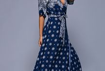 Bohemian dress navy blue