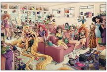 Гардеробная Дисней Изображения (Disney Dressing Room Depictions)