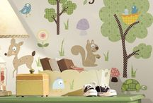 Woodland Theme Wall Decoration / All of our woodland themed wall stickers - perfect for any outdoorsy types.