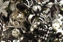navidad negro y plata