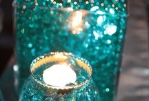 Candles in Teal / Mint / Turquoise