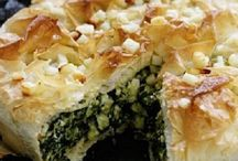 pie of greens and cheese