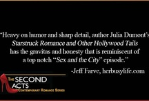 """Second Acts / Second Acts is a series of romance novels by author Julia Dumont. """"Sleeping with Dogs and Other Lovers"""" """"Starstruck Romance"""" and """"Hearts Unleashed"""" available in digital and paperback now!"""