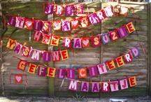 creatieve ideeen / huisdecoratie, slingers, kadoverpakkingen, accessoires voor marit