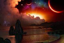 Sun, Moon, Stars, Universe