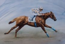 Horses in Art- European Flat Racing Scenes