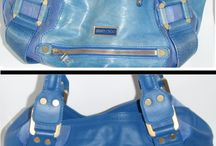 Jimmy Choo Handbags Repaired and Restored / Photos of stained, damaged, torn, dirty and worn out Jimmy Choo handbags and purses that we have lovingly cleaned and restored.