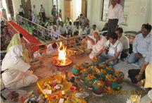 Pran Prathesta / PRAN PRATHESTA of BABA's IDOL in the big hall has been performed on 21th April 2013