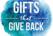 Gifts that Give Back / Give a gift that has a lasting impact. Whether it's tree planting in honor of friends and family, rain forest-saving coffee and chocolate, or individually packaged evergreens, we can help you give your loved ones a gift that continues to give long after the holidays are over.