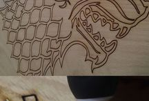 Pyrography and Inlays