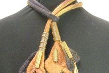 Wool Felt bolls necklace- Валяные из войлока/шерсти бижутерия / Всё об украшениях из шерсти- All about wool felted jewellery .