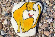 taş boyama-stone painting