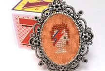 cross stitch jewellery