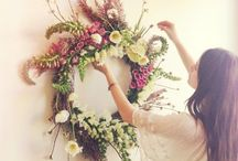 Fresh Flower Wreath Inspiration / Inspirational images for Floral Wreaths