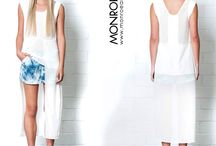 Exaggerated Hems / Dipped hems...exaggerated hems...hi-low hems, asymmetric hems....whatever you prefer to call it we have it! Hottest silhouette of the season with uneven hem lines across dresses, tunics, tops and skorts. Shop now at monroeandme.com