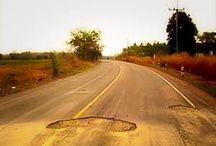 De wegen op het Thaise platteland (video)