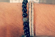 Men's Leather & Beaded Bracelets